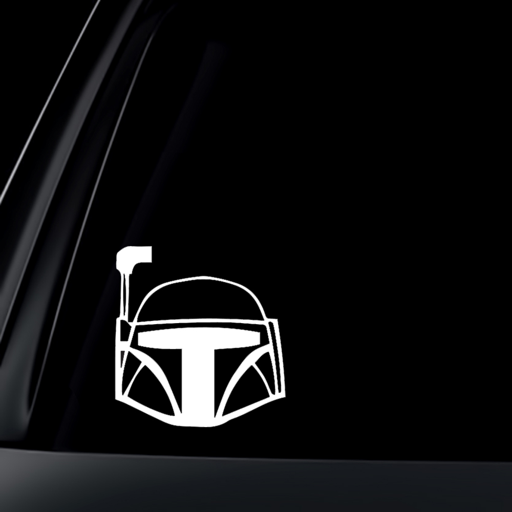Boba Fett Helmet Car Decal / Sticker