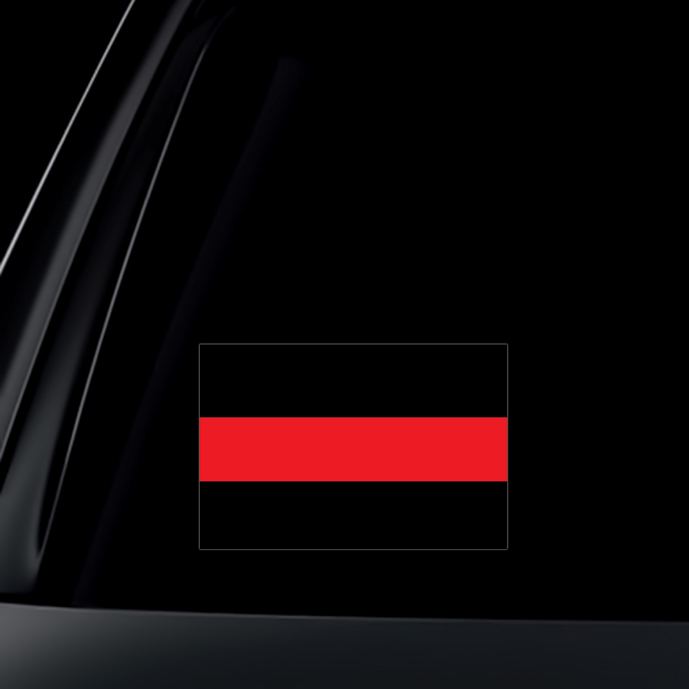 Thin Red Line Car Decal / Sticker