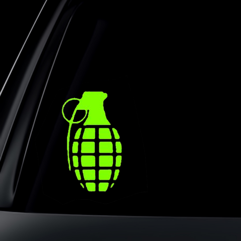 Hand Grenade Car Decal / Sticker
