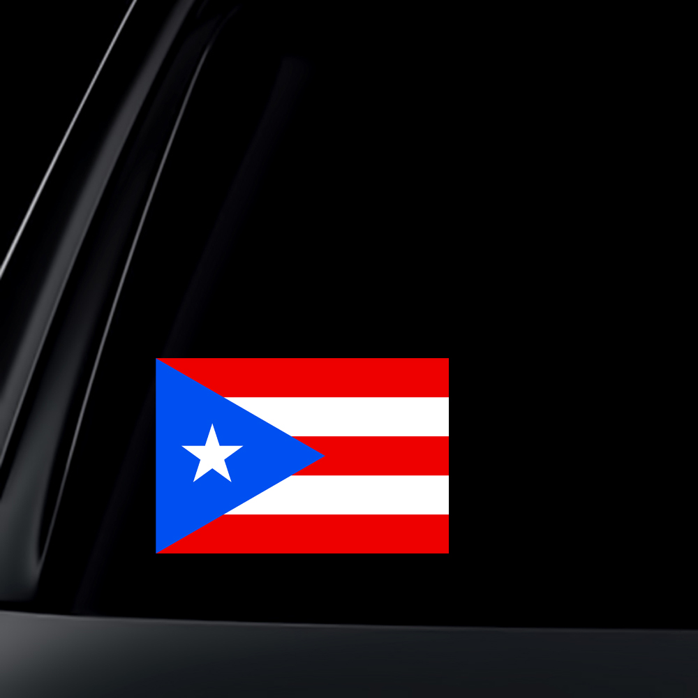 Puerto Rico Flag Car Decal / Sticker