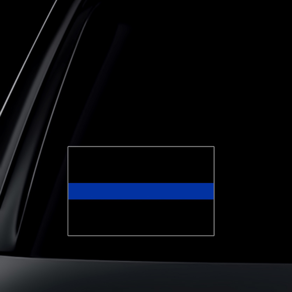 SET of 2 - Thin Blue Line Car Decal / Sticker