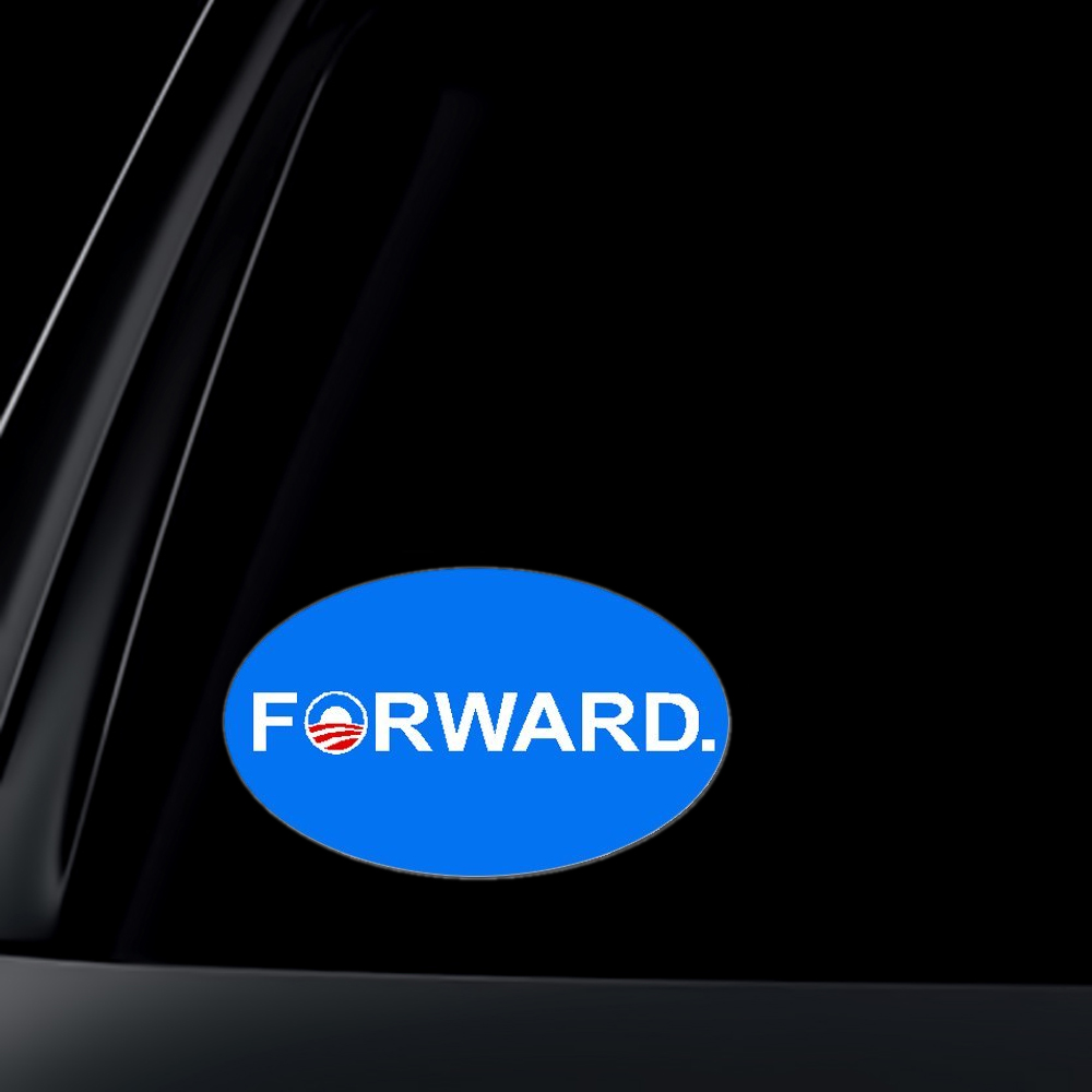 Pro Obama FORWARD 2012 Presidential Election Car Decal / Sticker