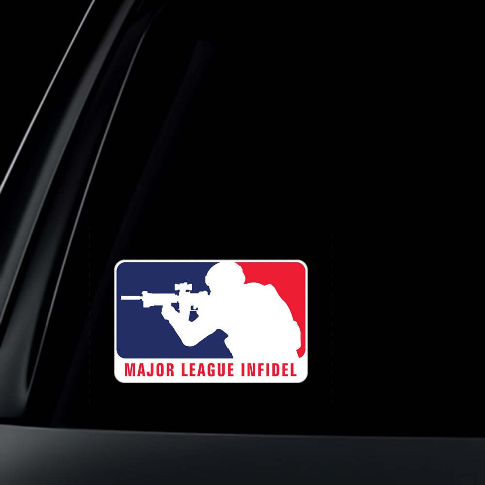 Major League Infidel Car Decal / Sticker