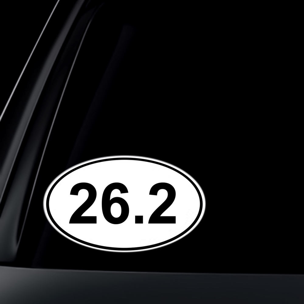 26.2 Marathon Euro Oval Car Decal / Sticker