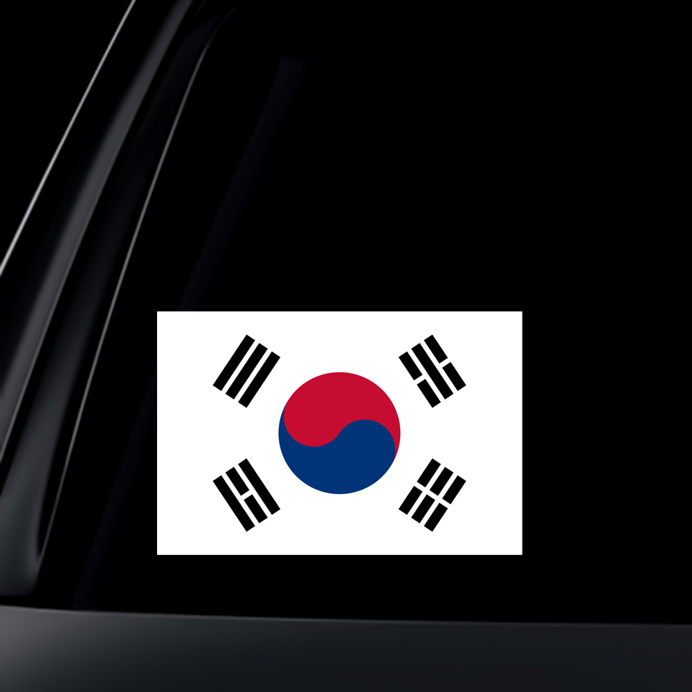 South Korea Flag Car Decal / Sticker