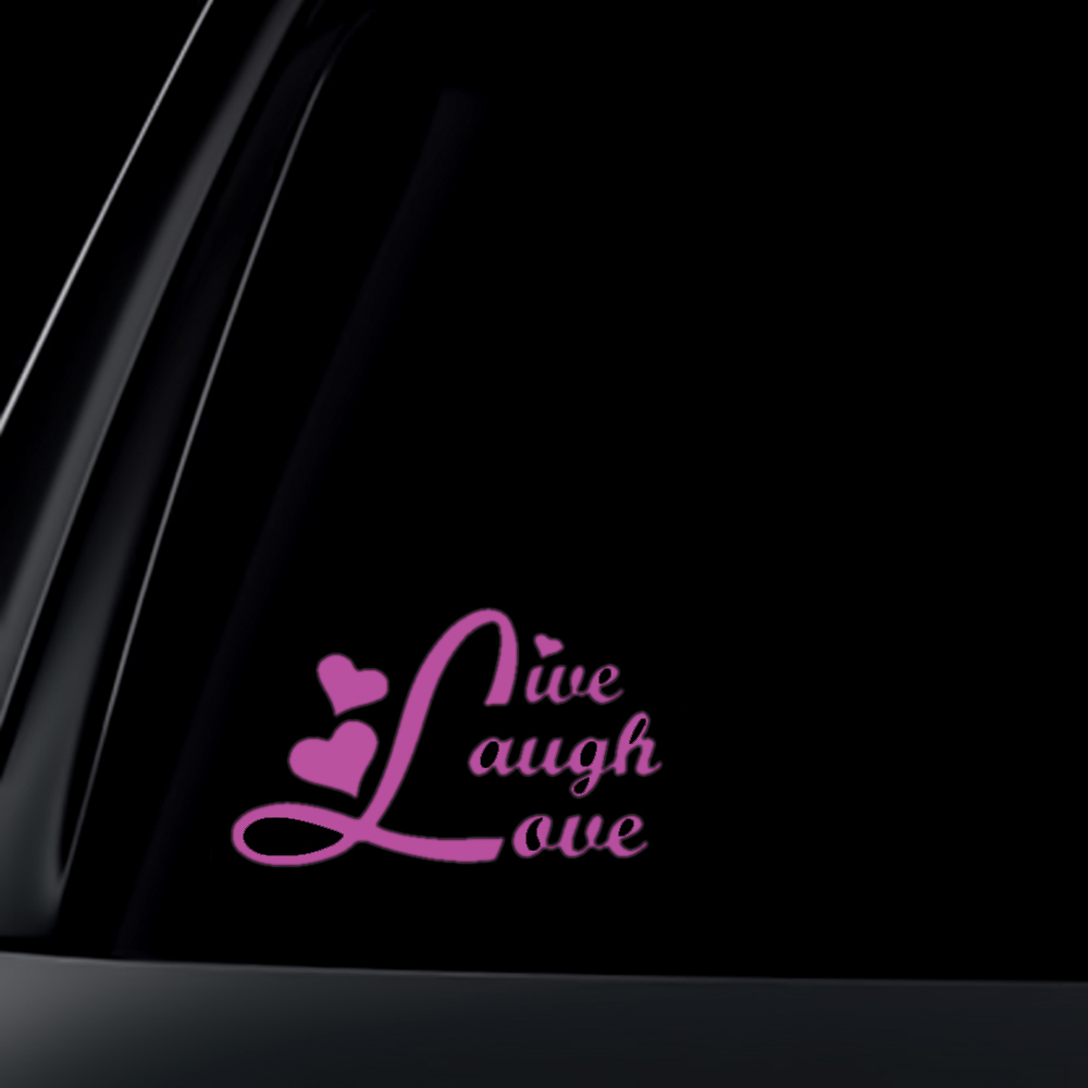 Live Laugh Love Car Decal / Sticker