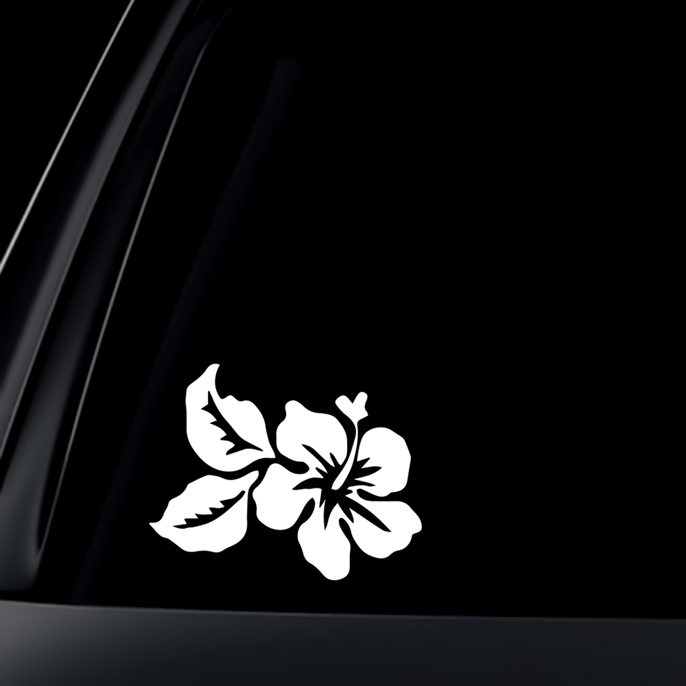 Hawaiian Flower Car Decal / Sticker