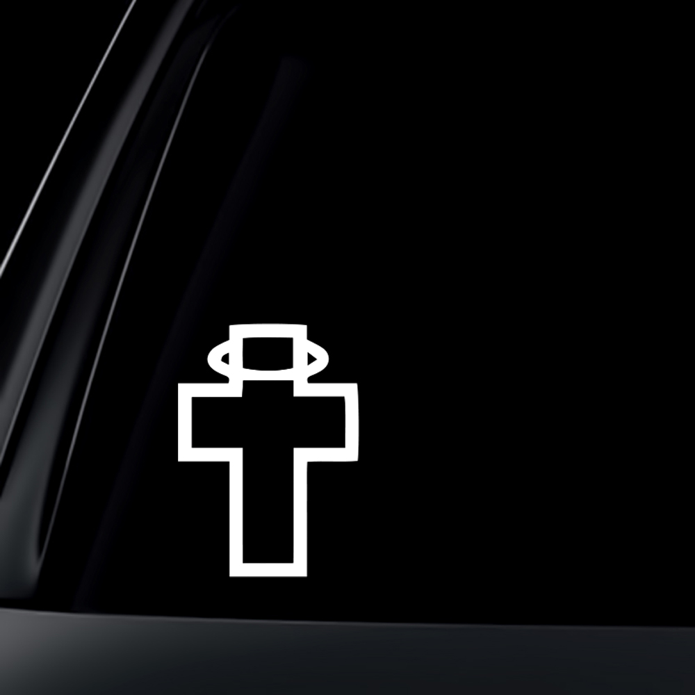 Cross w/ Halos Car Decal / Sticker