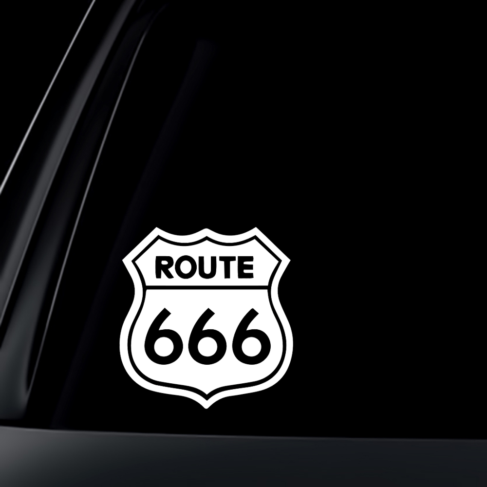 Route 666 Satanic Rob Zombie Devil Decal Car Sticker