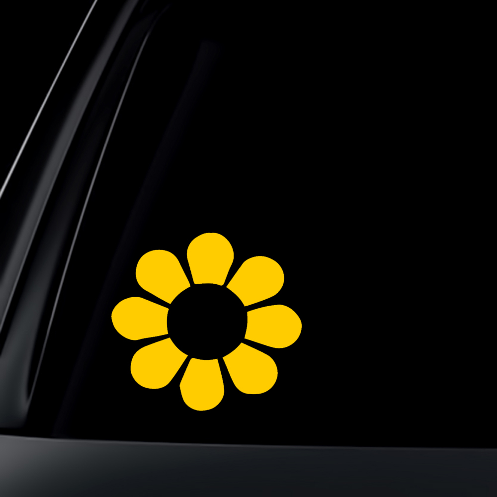 Daisy Flower - Yellow - Bumper Sticker / Decal