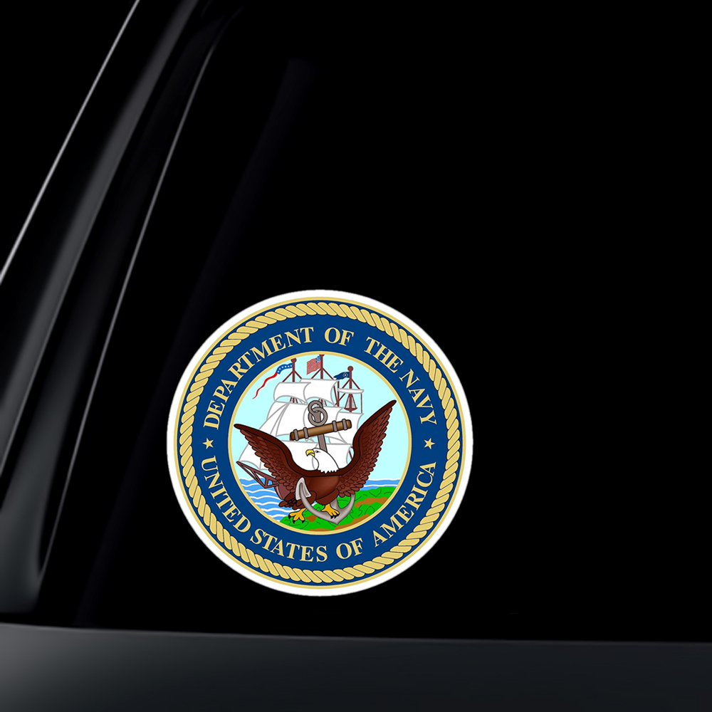 U.S. Navy Department Car Decal / Sticker
