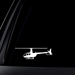 Robinson R 44 Helicopter R44 White Decal Sticker Die-cut White Decal Sticker