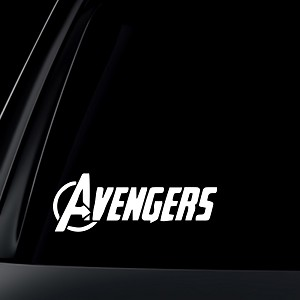 Avengers Logo Marvel Car Decal / Sticker